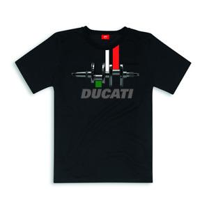 Original Ducati T-Shirt Tricolor Shirt short Sleeve New 2018