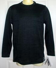 Nwt Rbx X-Train Black Striated L/S Compression Wicking ActiveWear Shirt Sz L $55