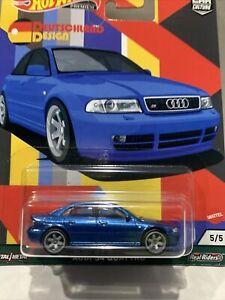 Hot Wheels Car Culture 2021 New Deutschland Design Audi S4 Quattro - Blue HTF