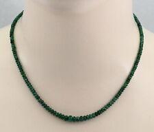 Smaragd Kette dunkelgrüne Smaragd Rondelle aus Sambia 45,5 cm lang