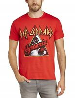 Def Leppard Hysteria Live Nation Merchandise Red Tee Adult Large T-Shirt (New)