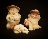 Lot/3 Dreamsicles Cherub Figurines Sleeping Baby, Holding Baby, Holding Bunny 》