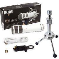 Rode Podcaster USB Mikrofon + KEEPDRUM MS055 Tripod Tisch-Stativ