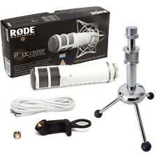 Rode Podcaster USB Mikrofon + KEEPDRUM MS055 Tripod Tisch-Stativ