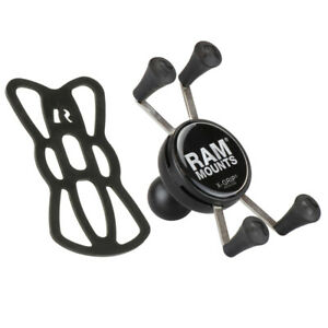 RAM Mounts RAM-HOL-UN7BU Universal X-Grip Cradle for iPhone X 8 7 6 with Tether