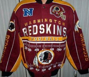 """Washington Redskins NFL Jacket 2014 """"Blitz"""" Twill Jacket Red & Yellow - Medium"""