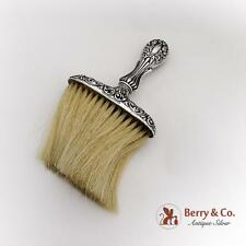 Baroque Floral Scroll Hat Clothes Brush Soft Bristle Sterling Silver 1895