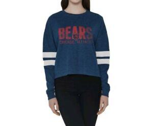 Chicago Bears NFL Woman's  devote long sleeve t Shirt Navy Blue Size L