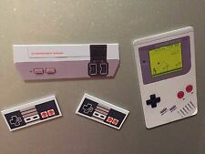 Retro Nintendo NES + Gameboy Style Fridge Magnet Pack Cool Gamer Geek Gift Idea
