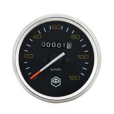 VESPA Redondo Speedo/Velocímetro 120kph Negro Cara/Amarillo texto P200E/PX125/PX150