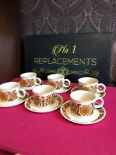 6 x Midwinter Stonehenge Woodland Tea Cups And Saucers 2 Sets Available