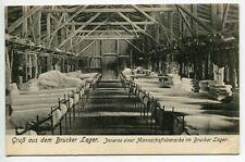1911 Bruck an der Leitha in Lower Austria, Bruck camp,inside a team barracks