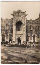 Edinburgh; Entrance, Scottish National War Memorial RP PPC, Braemar PMK 1964