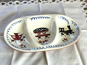 VINTAGE STANGL POTTERY KIDDIEWARE MEALTIME SPECIAL DIVIDED DISH