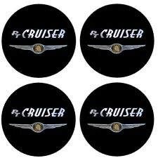 4 adhésifs noir chrome CHRYSLER PT CRUISER 40 à 100 MM centre jantes