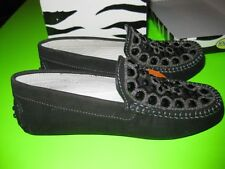 NIB NEw Primigi Shoes Size 32 US 1 kids Labuan Loafer Mocs Black Vintage!