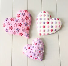 Girls Next Set Of 3 Cermanic Multicoloured Heart Wall Tiles LAST ONE
