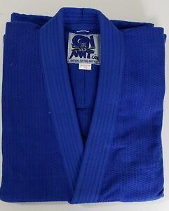 OTM GI  ON THE MAT A4  BLUE GI TOP & PANTS HEAVY GW 550 GOLD WEAVE COMP. MMA BJJ