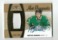 2015-16 Fleer Hockey Prospects #145 Mattias Janmark Rookie Patch Auto /499