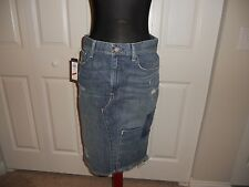 NWT POLO RALPH LAUREN AUTHENTIC DUNGAREES DENIM PENCIL SKIRT SIZE 6