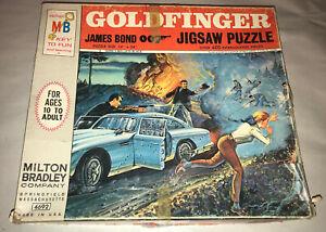 "Vintage Milton Bradley 1965 James Bond ""Goldfinger"" Jigsaw Puzzle Sean Connery"