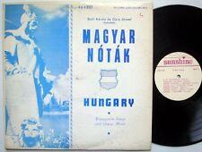 MAGYAR NÓTÁK Hungarian LP Sunshine recs SSX 901 Near-Mint vinyl