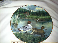 "1986 ""The Pintail"" Collection Plate by Bart Jerner with Coa"