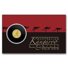 2016 Australia 1/2 Gram Gold Kangaroo Mini Roo BU (Assay Card) - SKU #97600