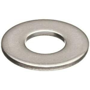 """100 Qty 1/4"""" Stainless Steel SAE Flat Finish Washers (BCP669)"""