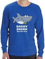 Daddy Shark Doo doo doo Funny Father Day Gift For Dad Long Sleeve T-Shirt Ocean