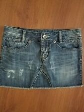 CONVERSE All Star Jean Skirt Distressed size 26