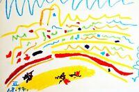Pablo Picasso Original Hand Dated 1.8.57. ( III ) Lithograph COA Certificate