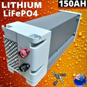 12V 150Ah LiFePO4 Lithium Iron Battery Deep Cycle Replace AGM Rechargeable Solar