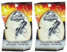 X2 Packs Jurassic World Mini Action Dinosaur Figures Blind Pack Collect Them All