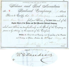 W. F. Sanders And Signed As President By Samuel T. Hauser
