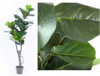 120cm Faux Fiddle Leaves Tree Potted Artificial Plant Flower Green Wedding Decor