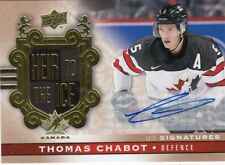 THOMAS CHABOT 17-18 Canadian Tire Team Canada UD Signatures Auto Heir to the Ice