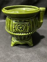 Vintage Parma by AAI Green pot belly stove Planter Made In Japan