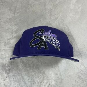 90s VTG SALEM AVALANCHE SNAPBACK Hat New Era MiLB WOOL Made in USA M/L Baseball