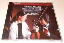 Tchaikovsky, Sibelius: Violin Concertos  Mullova Ozawa  (CD, 1987)  Philips NEW