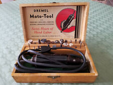 Vintage Dremel Moto-Tool Model No. 2 Box and Accessories - Tested And Works.