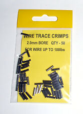 Wire Trace Crimps 2.0mm for up to 100lb pack of 50 - Sea Predator Fishing