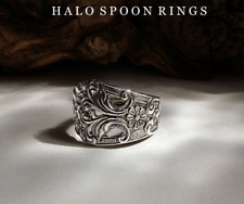 VERY PRETTY NORWEGIAN SOLID SILVER SPOON RING DATED 1910 ONLY ONE AVAILABLE