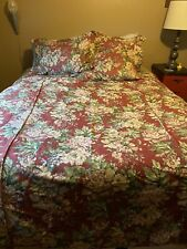 Vintage Pottery Barn Queen Linen Bedding