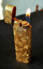 CARTIER Paris briquet gaz plaqué or brossé Vintage bel état Swiss Made