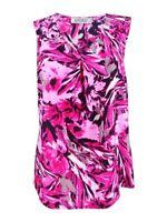 Kasper Women's Sleeveless Flower Print V-neck Blouse