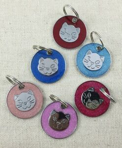 Personalised ENGRAVING Cat ID Kitten Identity Name Tag Puppy Pet ID Tags