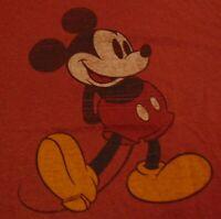 DISNEY WORLD MICKEY MOUSE Florida Travel Souvenir Ringer Soft T Shirt size Large
