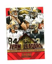 NEW Orleans Saints 2015 PANINI score, team leaders, (Red)!!! Drew Brees!!!