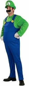 Super Mario Bros Party Luigi Adult Deluxe Costume - Various Sizes Available